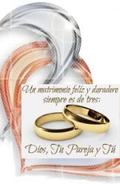 Un matrimonio feliz y duradero es de 3: tú, tu pareja y Dios