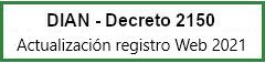DIAN - Actualización Registro Web 2019